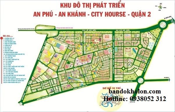 Bản đồ khu đô thị An Phú - An Khánh