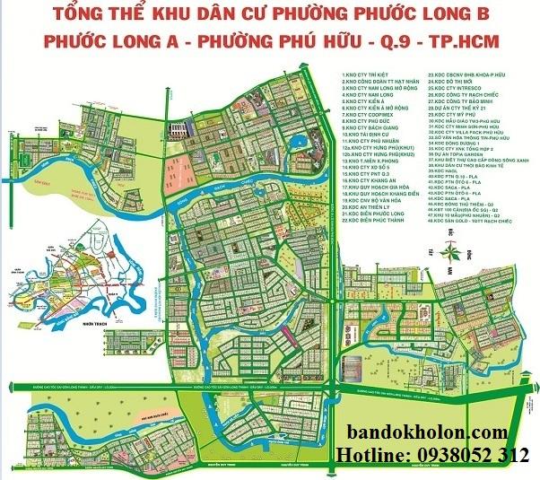 Bản đồ tổng thể Phước Long A - Phước Long B