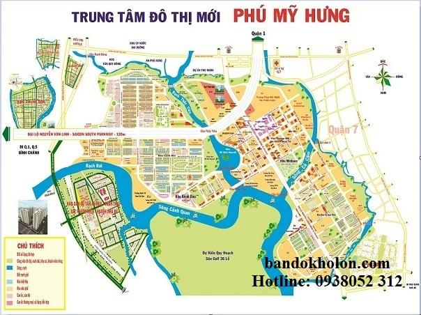 Bản đồ khu đô thị Phú Mỹ Hưng