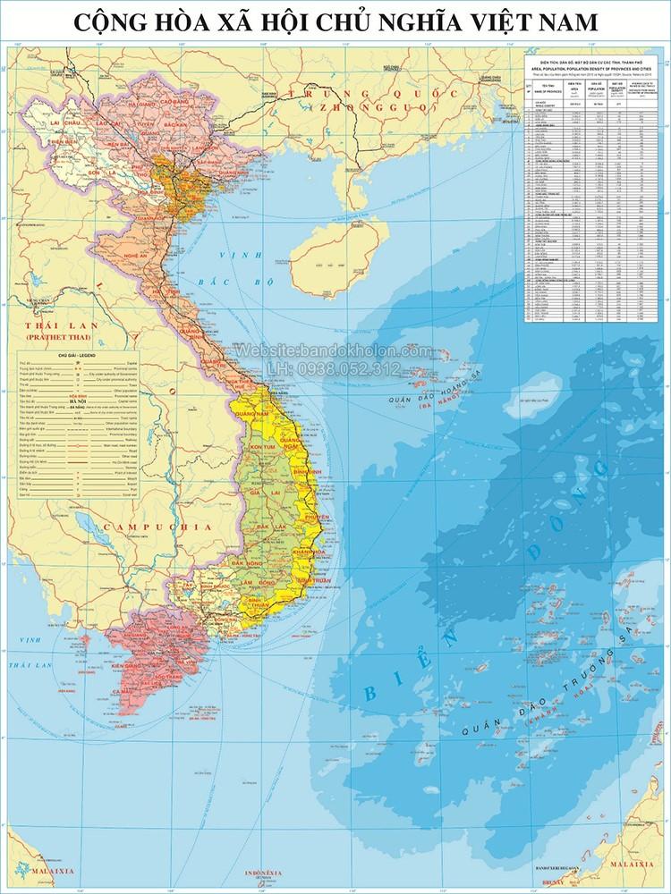 Bản đồ Việt Nam (Mẫu 4)