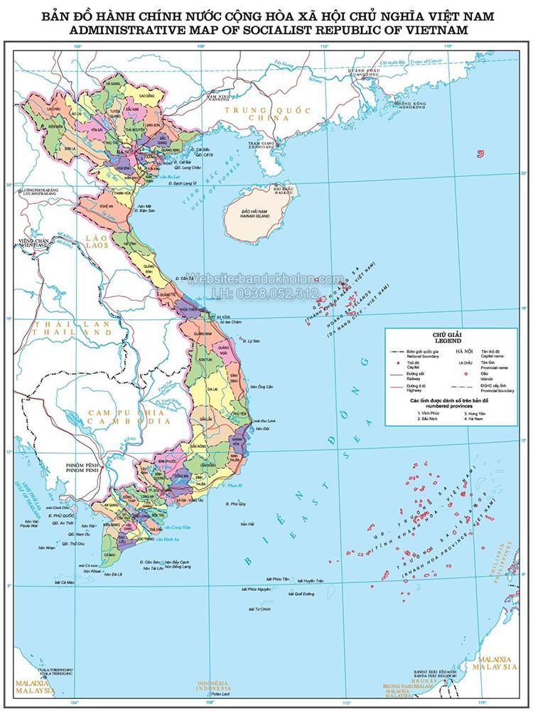 Bản đồ Việt Nam (Mẫu 5)