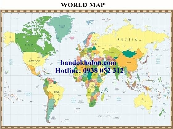 Bản đồ Thế Giới (Mẫu 32)