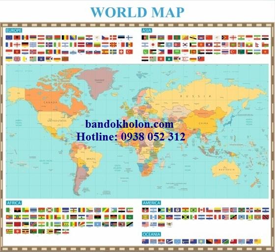 Bản đồ Thế Giới (Mẫu 35)