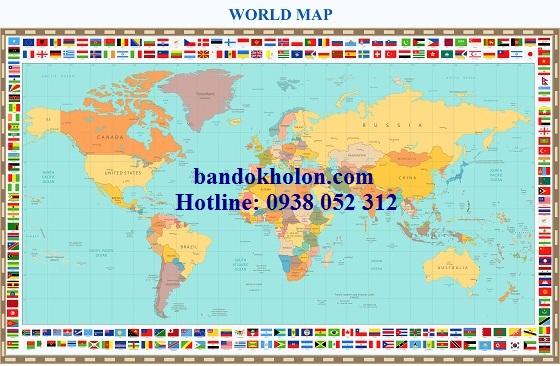 Bản đồ Thế Giới (Mẫu 37)