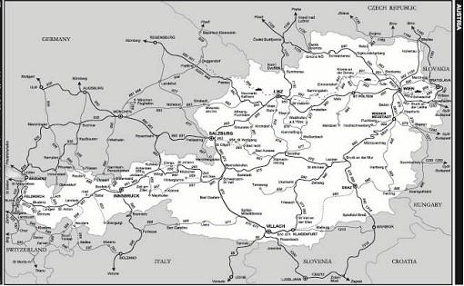 bán bản đồ nước Áo