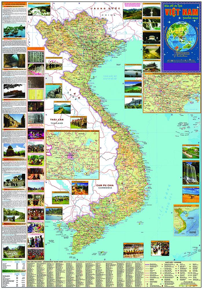bán bản đồ du lịch