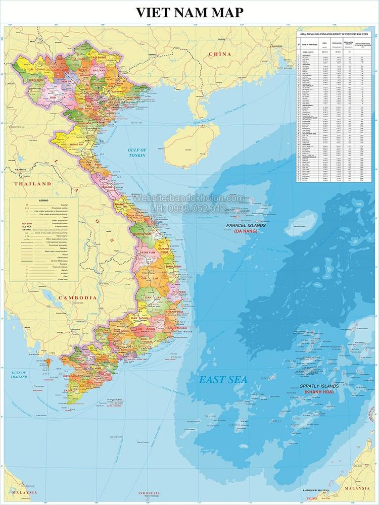Ban Do Dia Hinh Viet Nam Tieng Anh