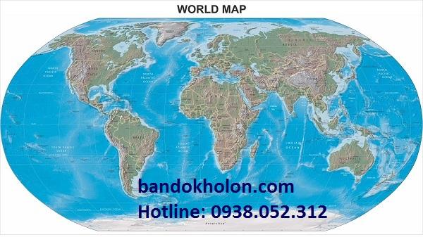 Đặt in bản đồ thế giới tiếng Việt