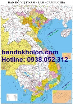 Tấm bản đồ tỉnh thành của Việt Nam khổ lớn chất lượng cao