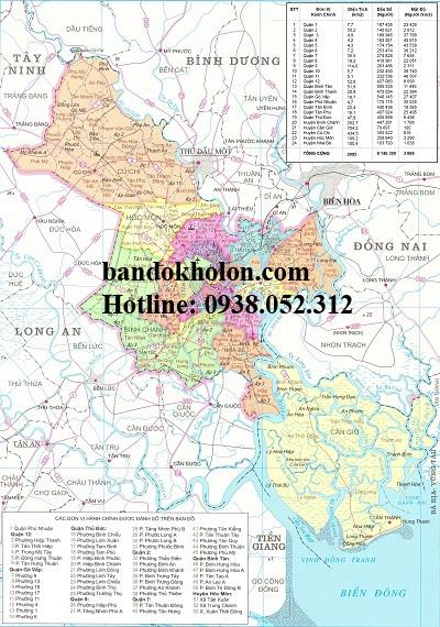 Bản đồ hành chính thành phố Hồ Chí Minh uy tín chất lượng