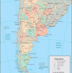 bản đồ argentina khổ lớn