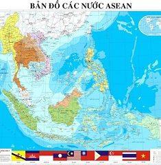 Bản đồ các nước ASEAN