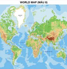 Bản đồ Thế Giới (Mẫu 8)