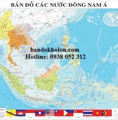 Bản đồ các nước Asean khổ lớn