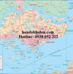 Bản đồ Singapore khổ lớn