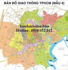 Bản đồ giao thông TPHCM (Mẫu 4)