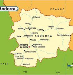 Bản đồ khổ lớn Andorra