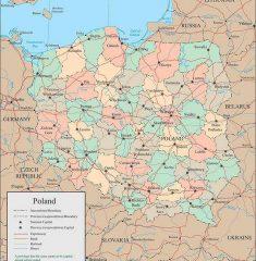 Bản đồ Ba Lan khổ lớn