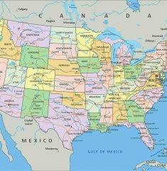 bản đồ châu phi khổ lớn