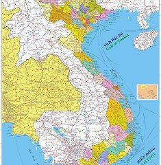 Bản đồ Việt Nam – Lào – Campuchia