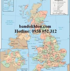 Bản đồ khổ lớn nước Anh
