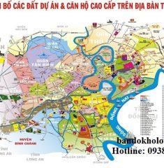 Bản đồ tổng thế dự án TPHCM