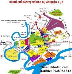 Bản đồ phân bố dự án Q2, Q9