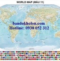 Bản đồ Thế Giới (Mẫu 11)