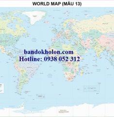 Bản đồ Thế Giới (Mẫu 13)