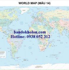 Bản đồ Thế Giới (Mẫu 14)