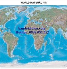 Bản đồ Thế Giới (Mẫu 15)