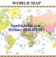 Bản đồ Thế Giới (Mẫu 17)