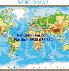 Bản đồ Thế Giới (Mẫu 19)