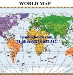 Bản đồ Thế Giới (Mẫu 20)