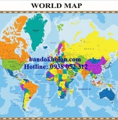 Bản đồ Thế Giới (Mẫu 21)