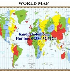 Bản đồ Thế Giới (Mẫu 22)