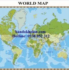 Bản đồ Thế Giới (Mẫu 23)
