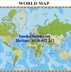 Bản đồ Thế Giới (Mẫu 24)