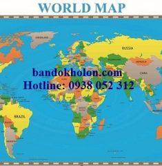 Bản đồ Thế Giới (Mẫu 25)