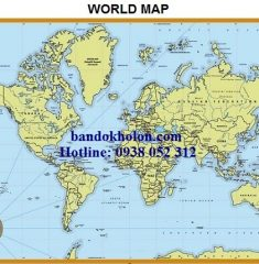 Bản đồ Thế Giới (Mẫu 28)