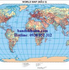 Bản đồ Thế Giới (Mẫu 3)