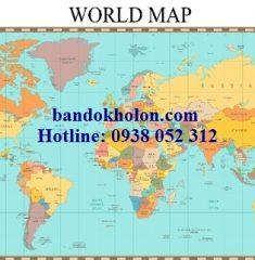 Bản đồ Thế Giới (Mẫu 30)
