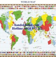 Bản đồ Thế Giới (Mẫu 33)
