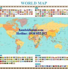 Bản đồ Thế Giới (Mẫu 34)