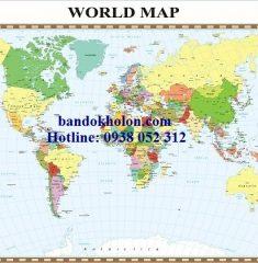 Bản đồ Thế Giới (Mẫu 36)