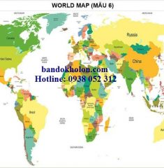 Bản đồ Thế Giới (Mẫu 6)