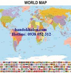 Bản đồ Thế Giới (Mẫu 7)