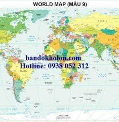 Bản đồ Thế Giới (Mẫu 9)