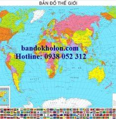 Bản đồ Thế Giới tiếng Việt