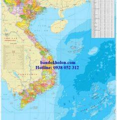 Bản đồ Việt Nam khổ lớn